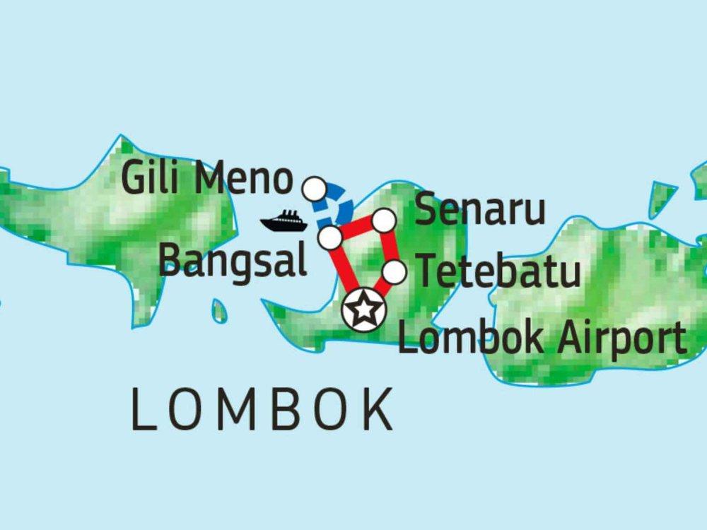 124Y21030 Lombok Kultur & Natur Karte