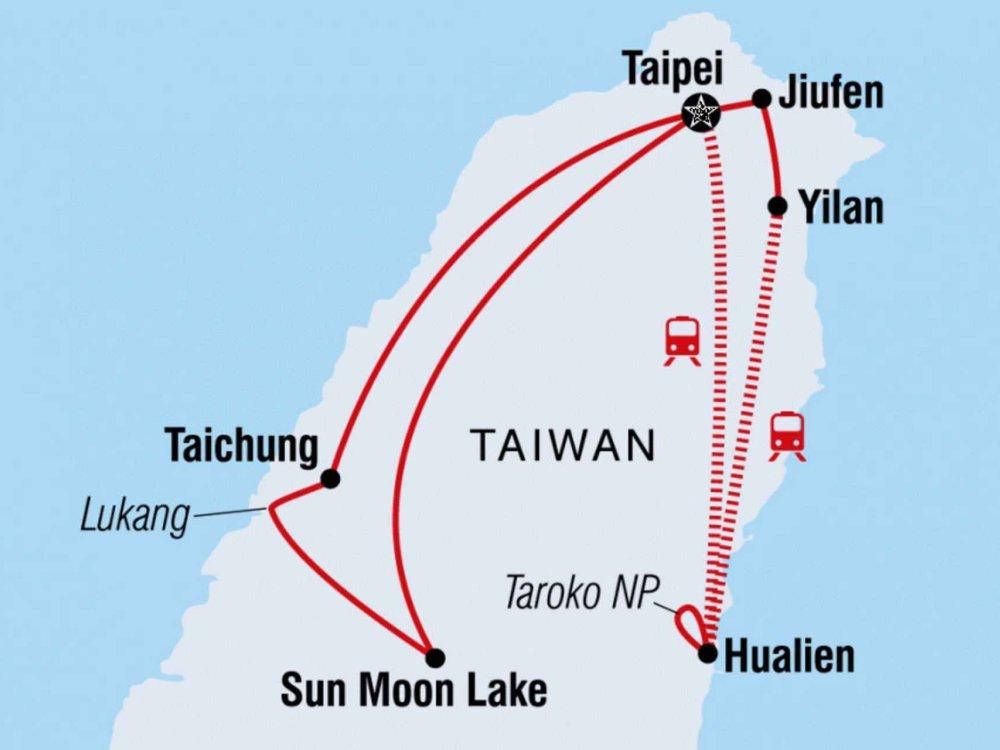 122Y40215 Unbekanntes Taiwan Karte