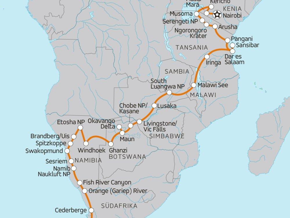 Grosses Afrika Abenteuer Karte