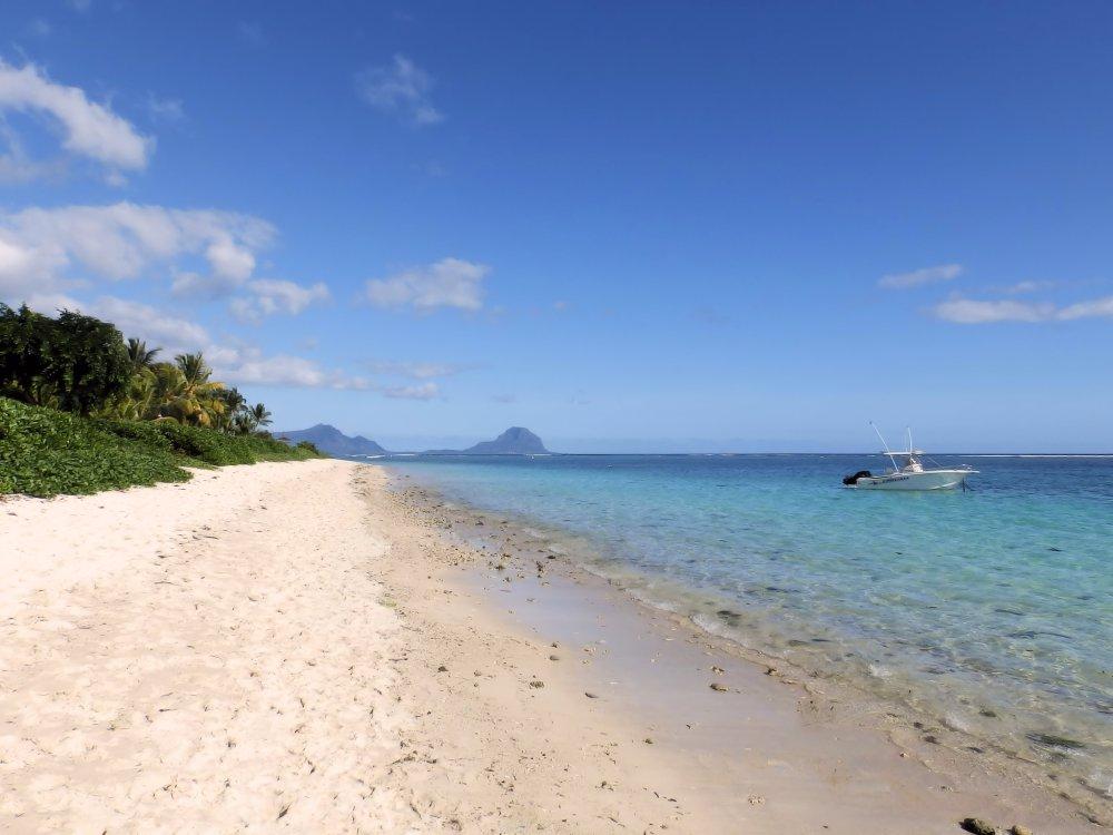 Sandstrand auf Mauritius
