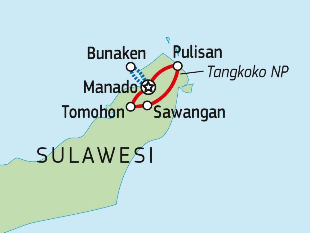 124Y21006 Unbekanntes Nord-Sulawesi Karte