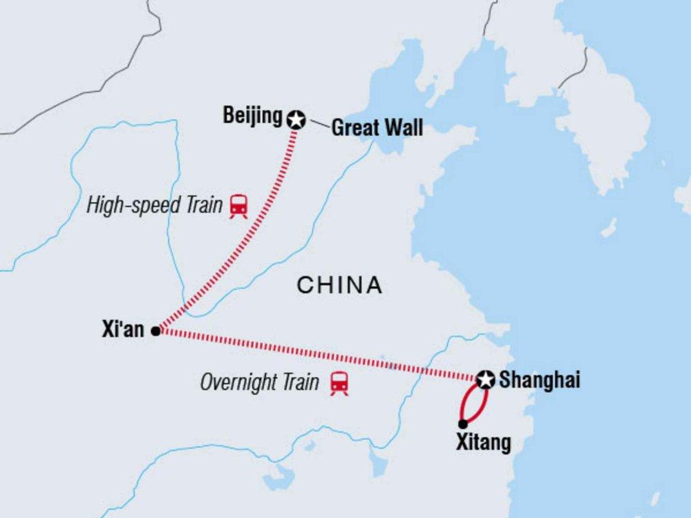 122Y60190 China zum Kennenlernen Karte