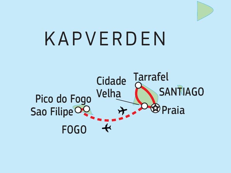 110Y12002 Kapverden - Entdeckungsreise Südinseln Karte