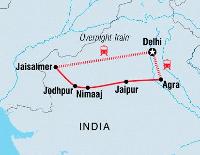 Rajasthan Abenteuer Karte