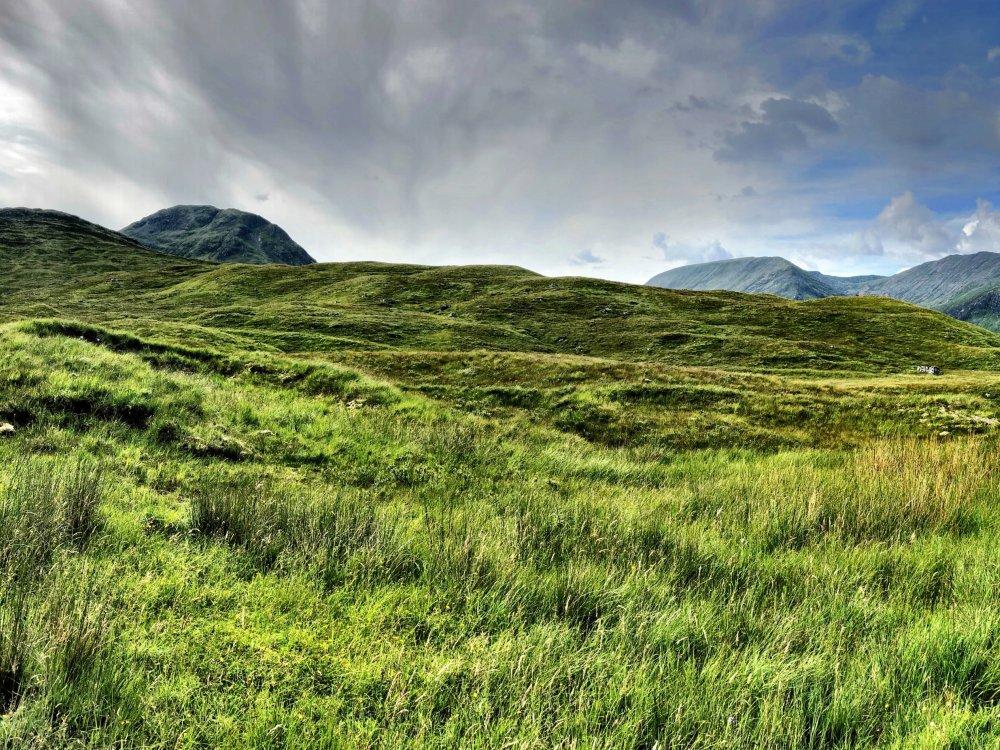 Landschaft in Rannoch Moor in den schottischen Highlands