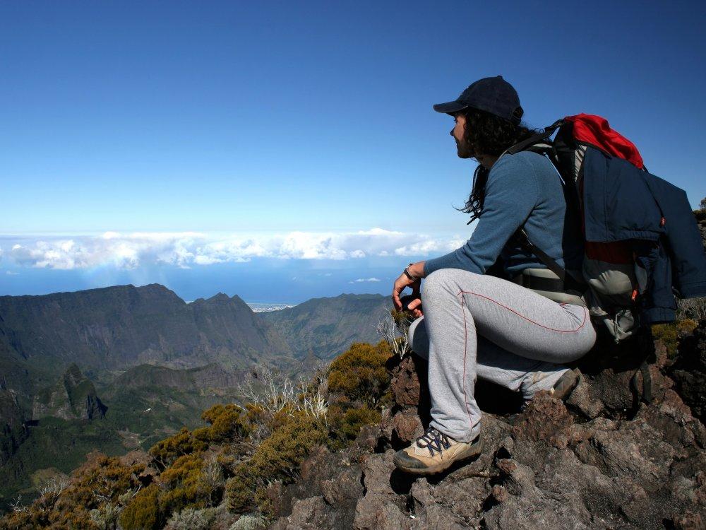 Wanderer auf La Reunion