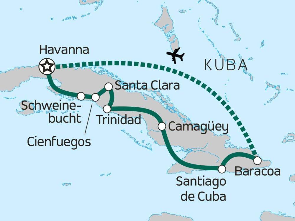 Authentisches Kuba Karte