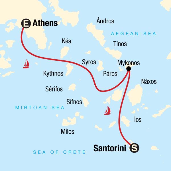 Segelurlaub Griechenland - Im Katamaran von Santorini nach Athen