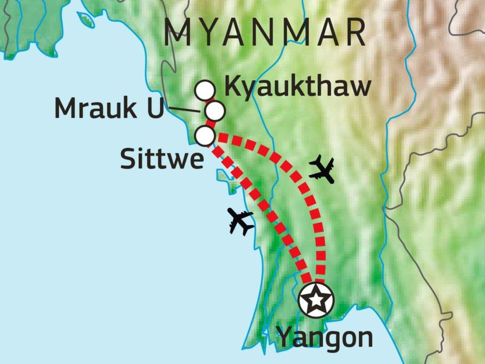 151Y10402 Verborgene Juwelen Myanmars Karte