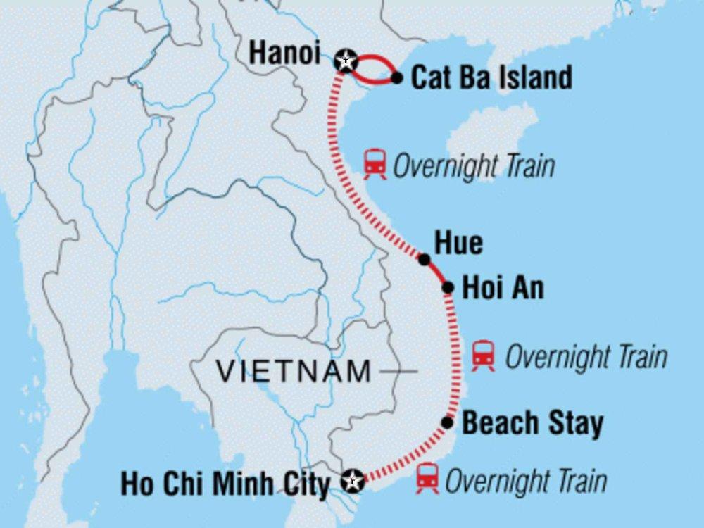 131Y21140 Vietnam Traveller Karte