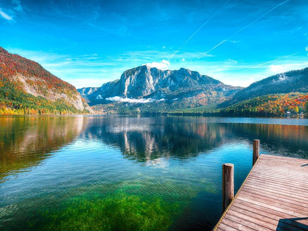 Sonniger Morgen am Altausseer See