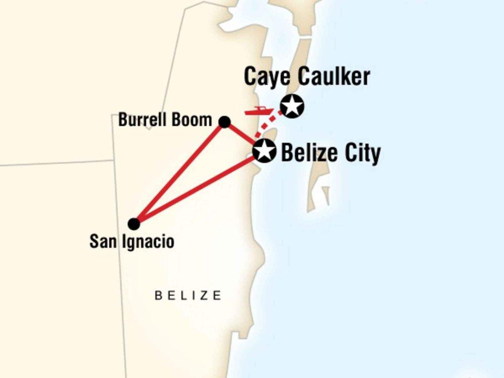 130G35023 Naturerlebnis Belize Karte