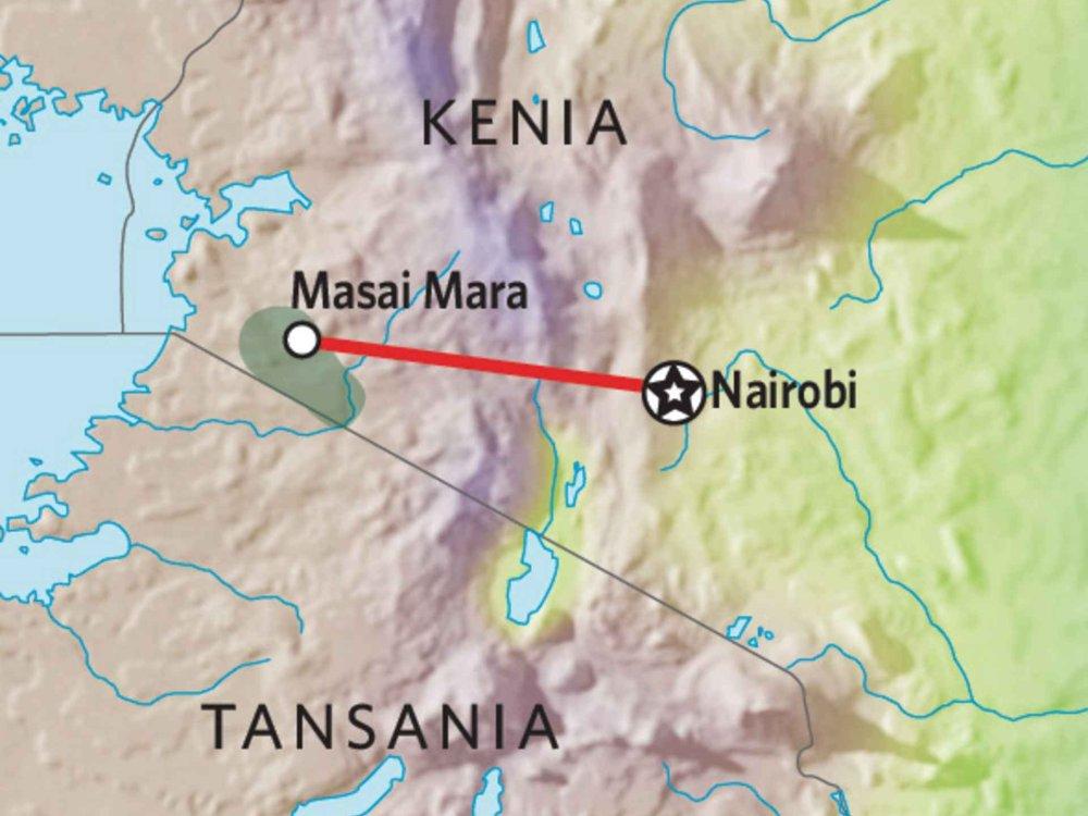 176Y10001 Kenia Lodge Safari I Karte