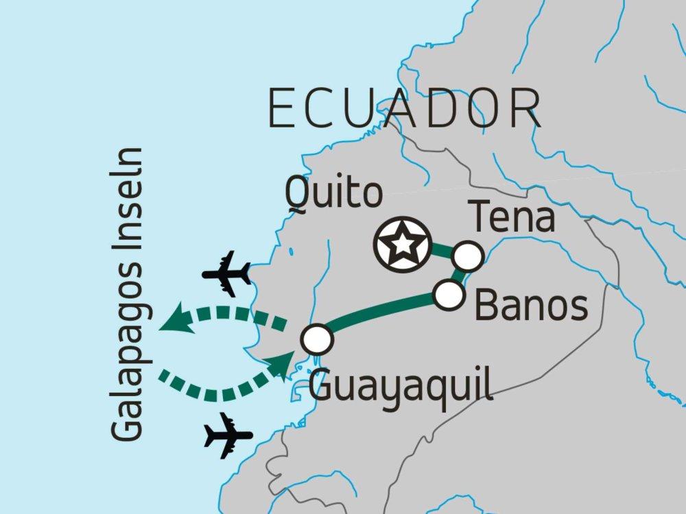 174Y20015 Ecuador & Galapagos Island Hopper Karte