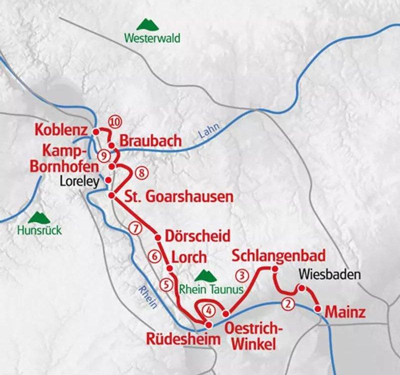 Wandern Rheinsteig Karte