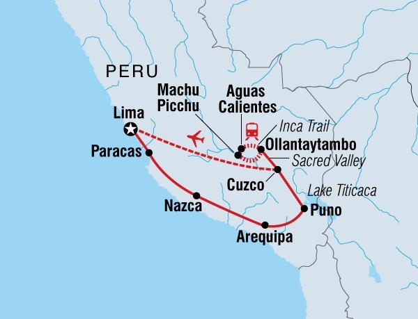 122Y60109 Magisches Peru Karte