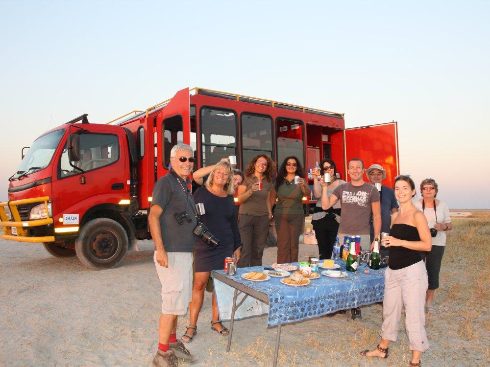 Overlandtruck bei einer Tour im südlichen Afrika