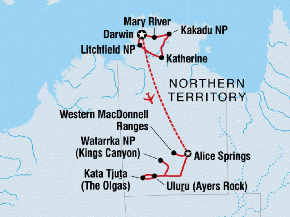104Y20049 Northern Territory Abenteuer Karte