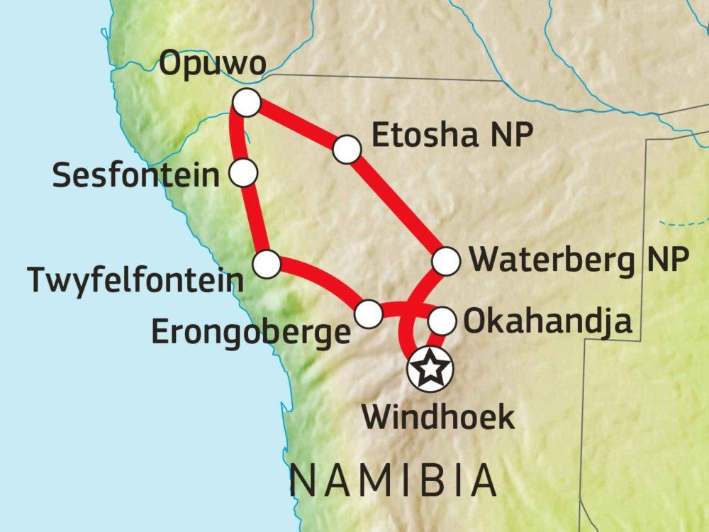 155Y31012 Erongo, Kaokoveld & West Etoscha Nationalpark Karte