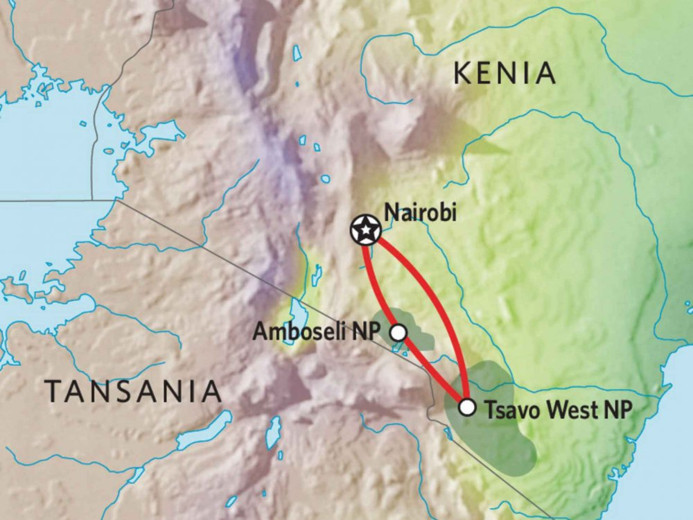 176Y10004 Kenia Lodge Safari IV Karte