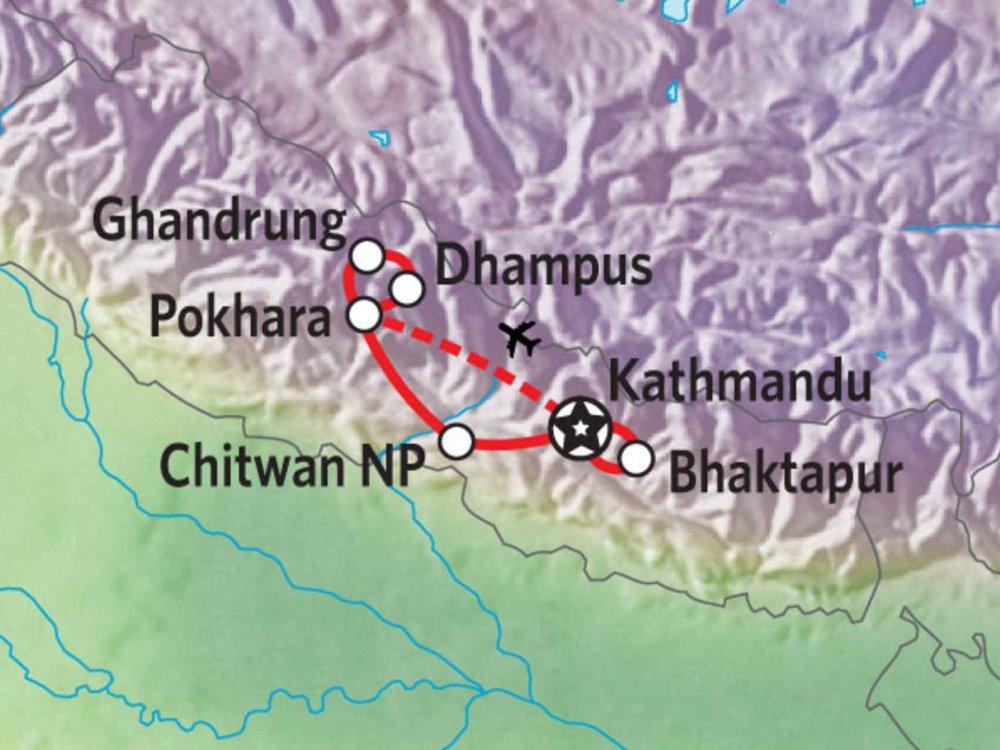 161Y00002 Nepal Panorama Karte
