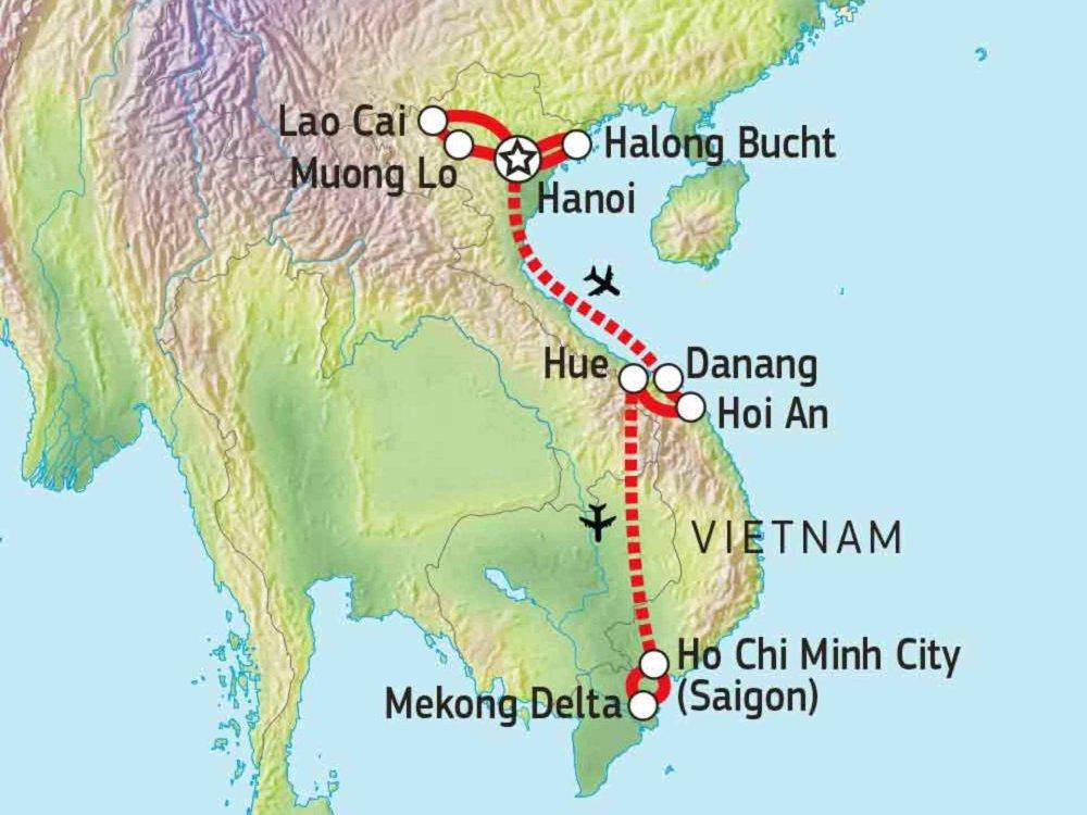 152A10002 Vietnam aktiv erleben Karte