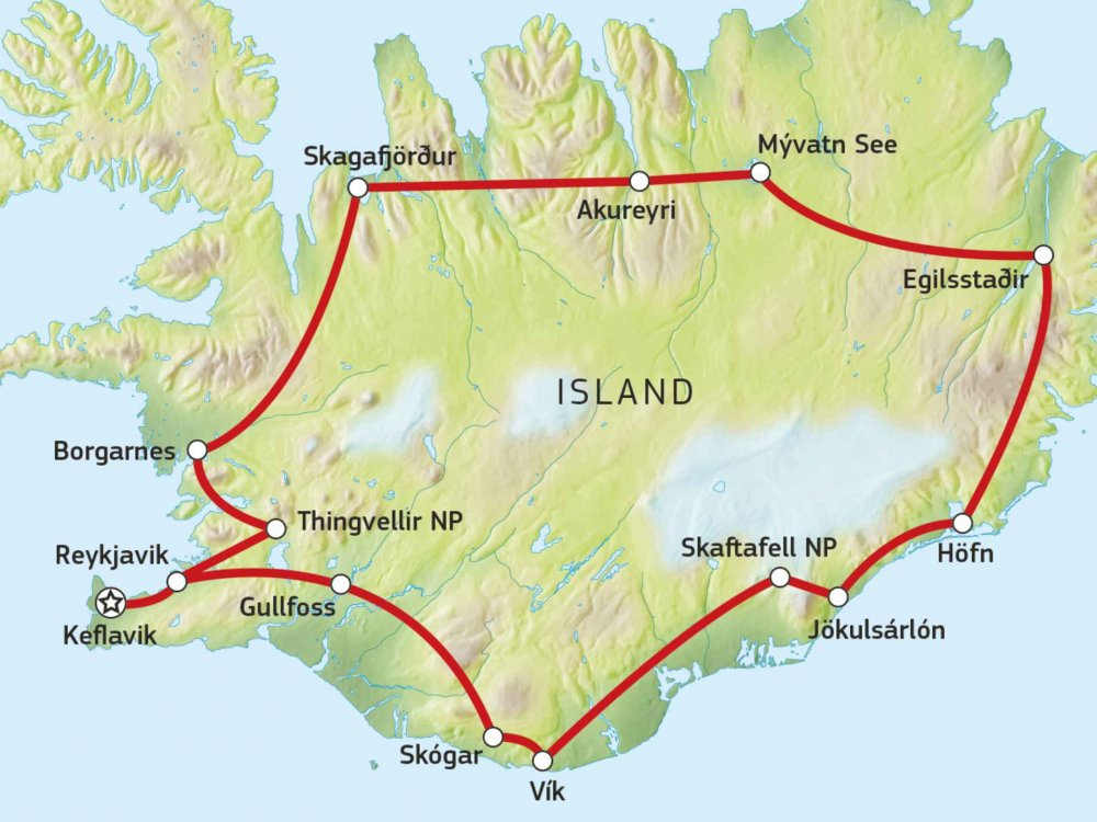 147Y10104 Island Komplett Karte