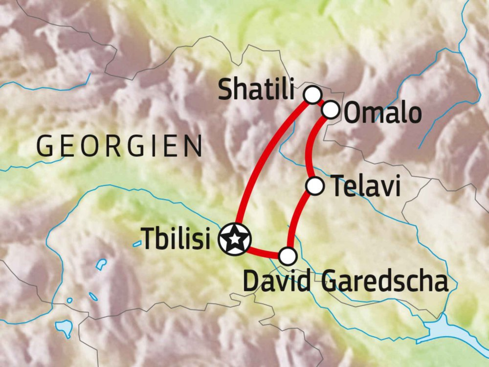 178Y31001 Tuschetien - Unentdeckte Pfade Georgiens Karte