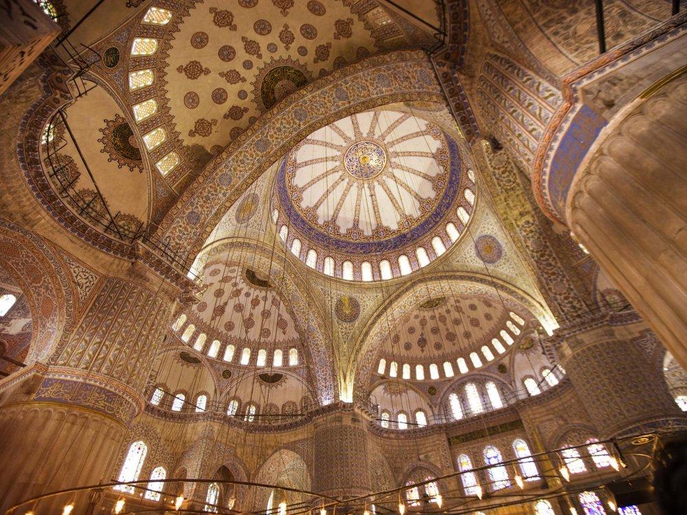 Decke in der Blauen Mosche in Istanbul