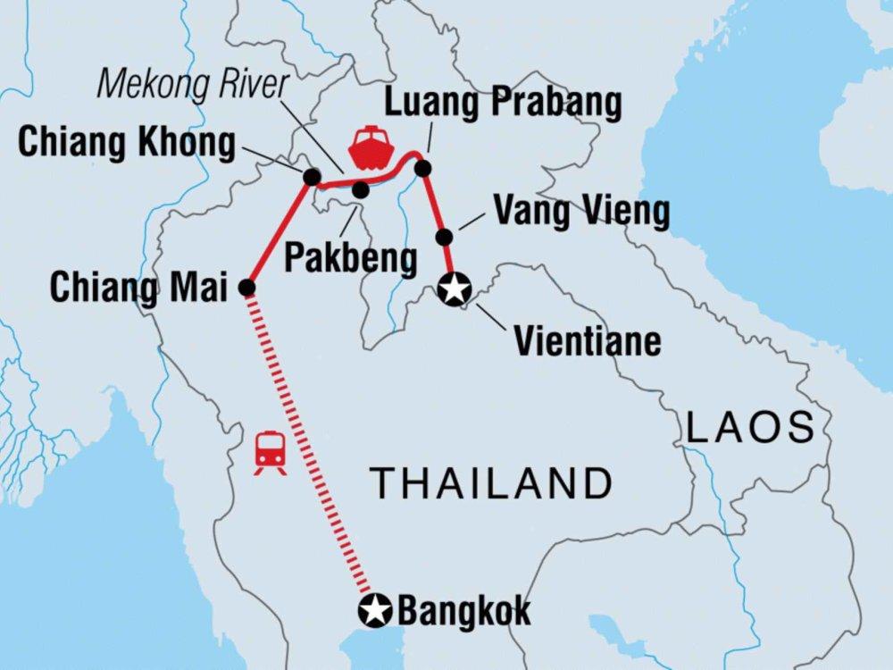 131Y21111 Entdecke Laos Karte
