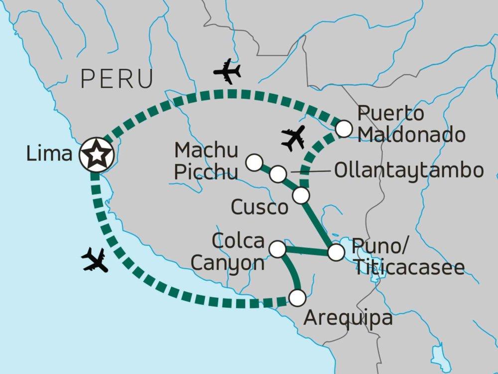 174Y20012 Peru Reise für junge Weltentdecker Karte