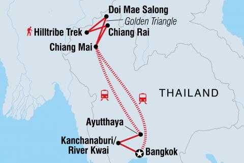 Nordthailand Abenteuerreise Karte