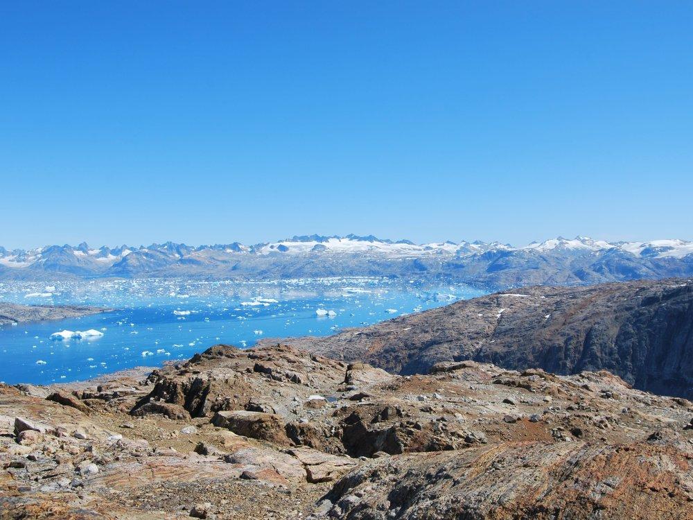 Panoramablick Sermilik Fjord