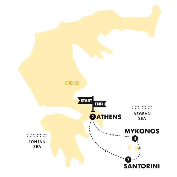 Segeln durch die griechische Inselwelt Karte