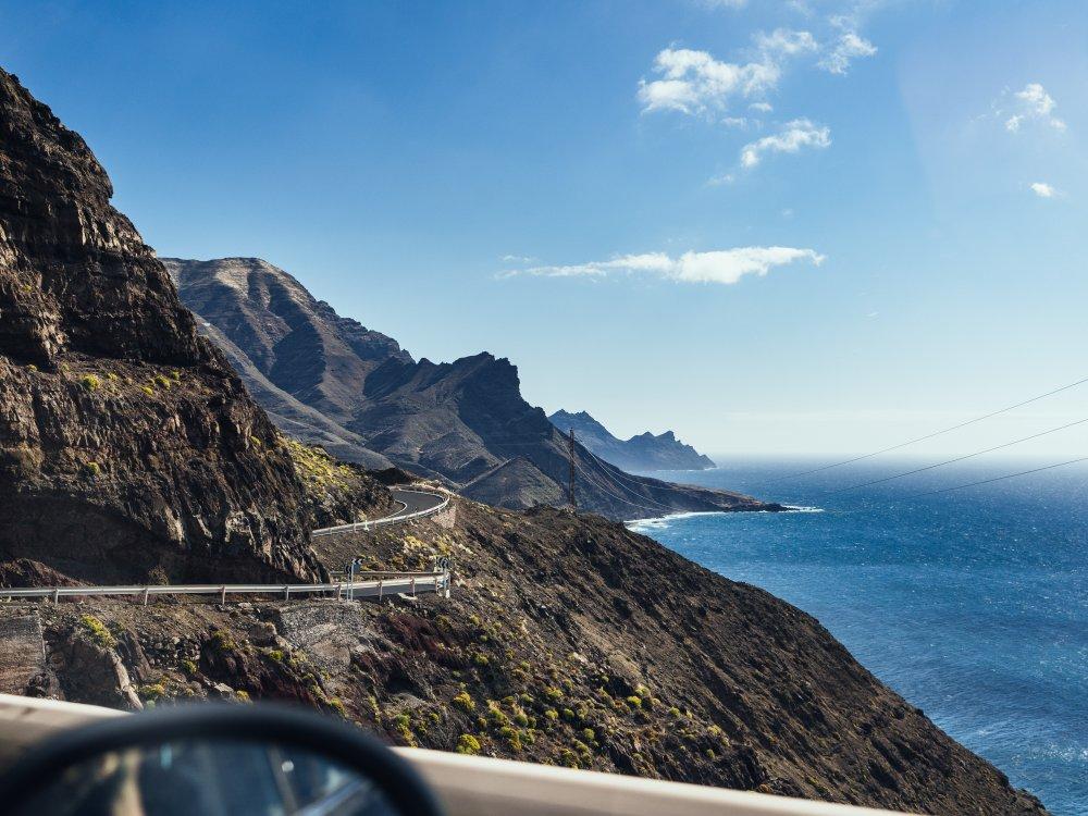 Fahrt an der Küste von Gran Canaria