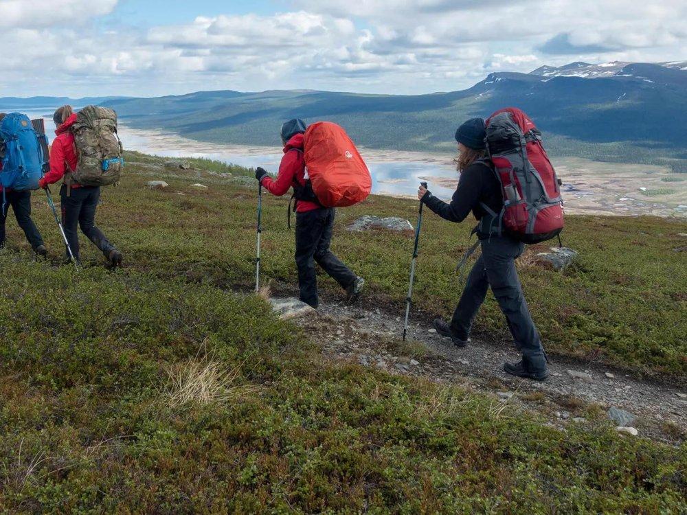 Zelt Trekking auf dem Kungsleden in Schwedisch Lappland