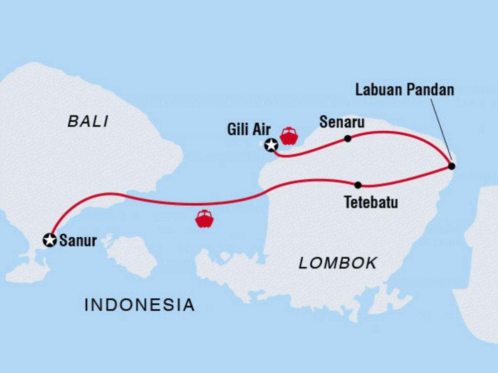Lombok für Entdecker Karte