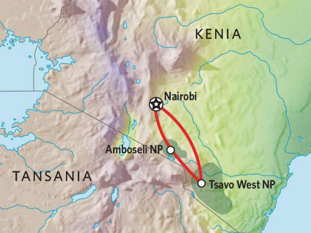 173Y10004 Kenia Camping Safari IV Karte