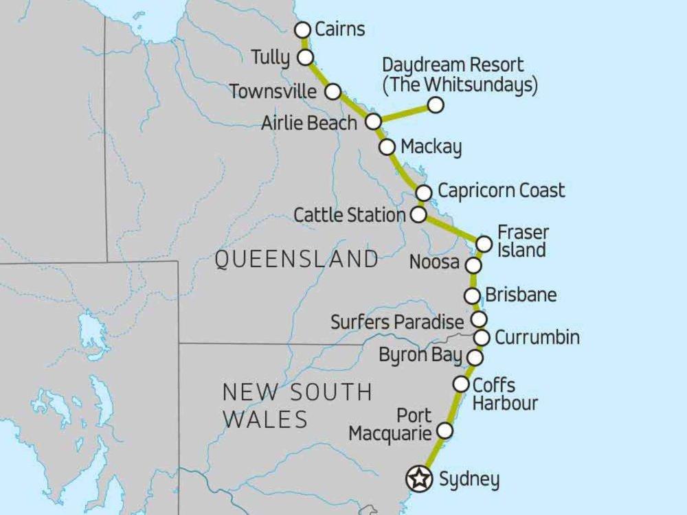 174Y10004R Australiens Strände & Riffe Karte