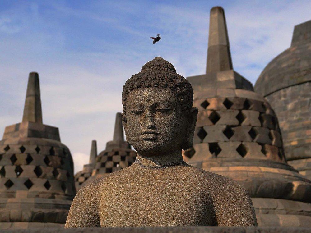 Borobudur Tempelfigur