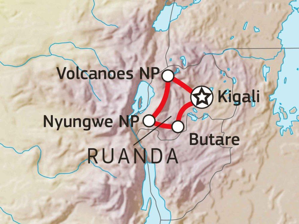 196Y10008 Primaten von Ruanda Karte