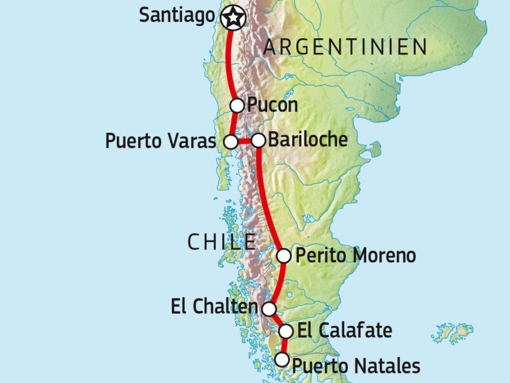 189Y10020 Patagonien erfahren Karte