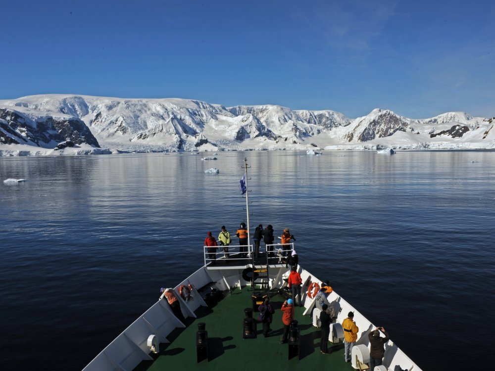 Antarktis Expedition Schiff an Deck