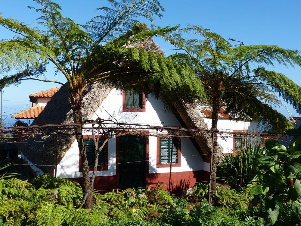 Typische Häuschen auf Madeira