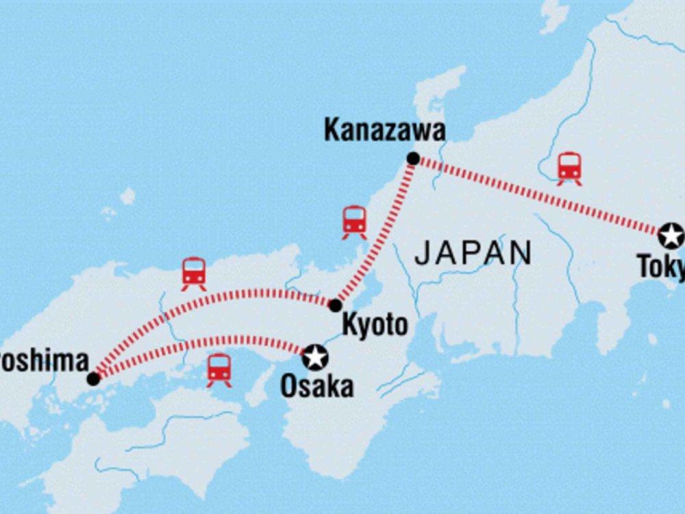131Y21146 Japan Reise für junge Leute Karte