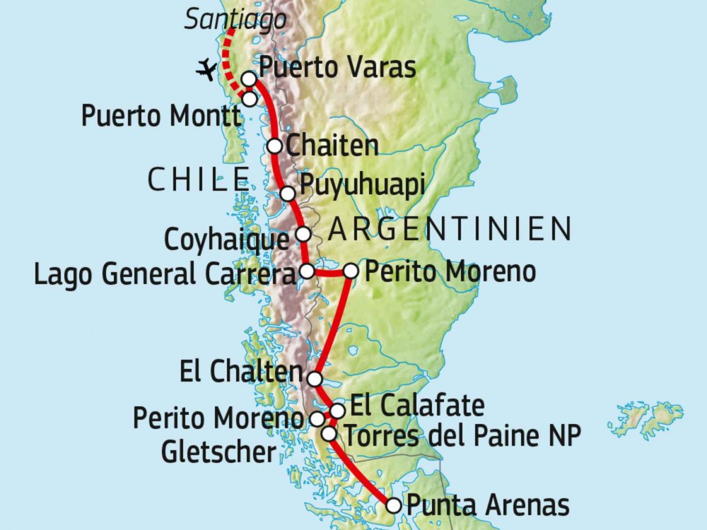 198Y50010 Abenteuer Patagonien & Carretera Austral Karte