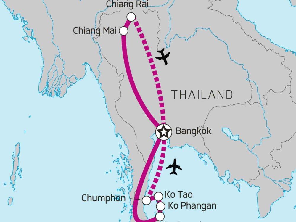 117Y15012 Thailand Entdeckerreise für Weltenbummler Karte