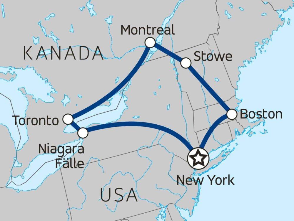 139Y10091 Canada & New York Christmas Dream Karte