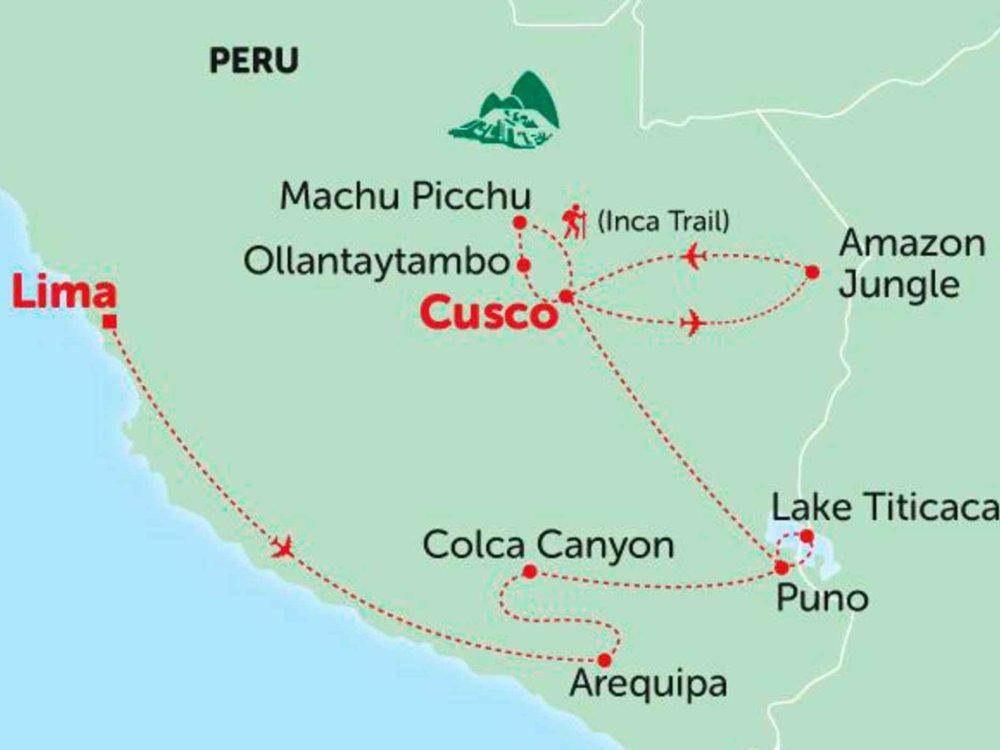 135Y10206 Amazonas & Inkas Karte