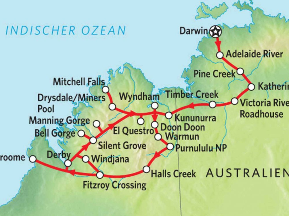 102Y10101 Abenteuer Kimberley Karte